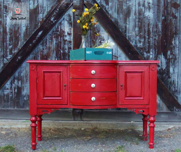 Primitive Red Buffet by Funcycled