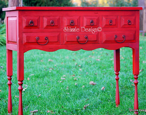 Red Buffet by Shizzle Design