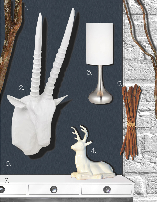 white-faux-taxidermy