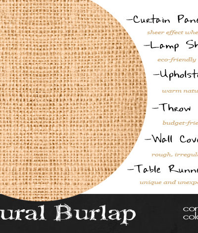 Design Elements {Natural Burlap}
