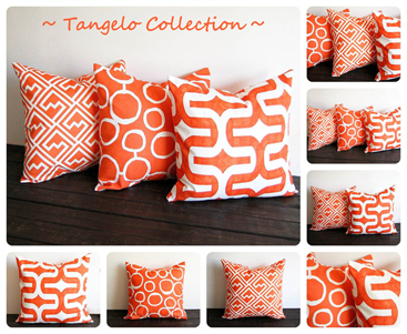 tangelo pillow covers