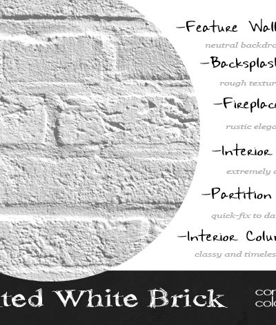 Design Elements {Painted White Brick}