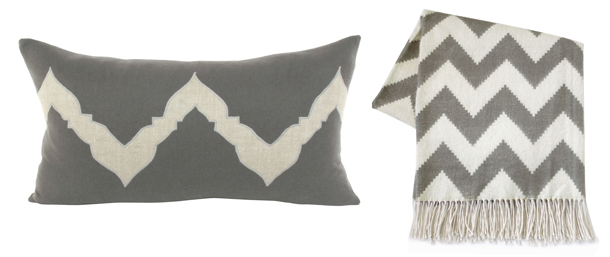 grey-and-white-chevron-pillow-and-throw