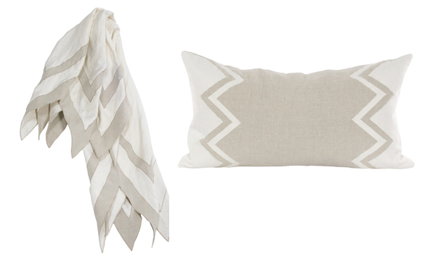 light-grey-and-white-chevron-pillow-and-throw