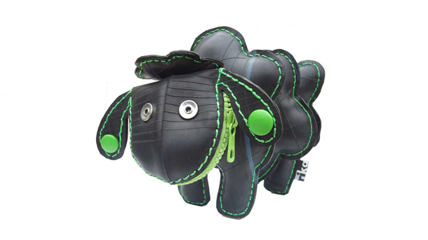 recycled innertube animal