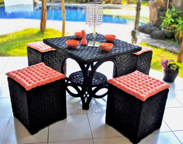 recycled-tire-table-chair-set