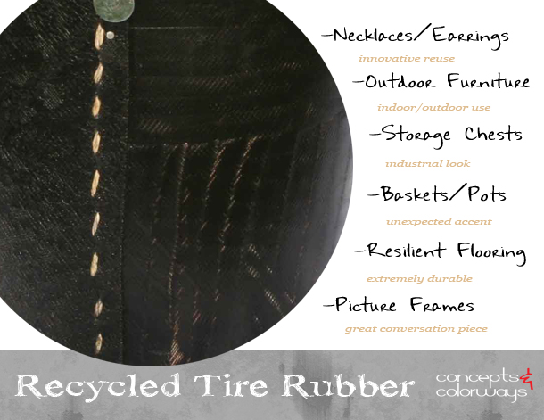 Design Elements {Recycled Tires}