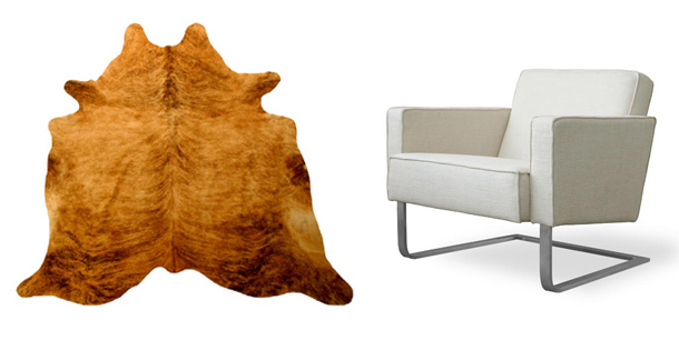 light-brown-brindle-cowhide-white-modern-chair