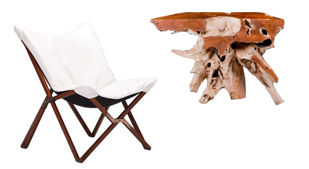 white-chair-burl-wood-table
