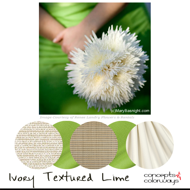 Fabric Palettes {Ivory Textured Lime}