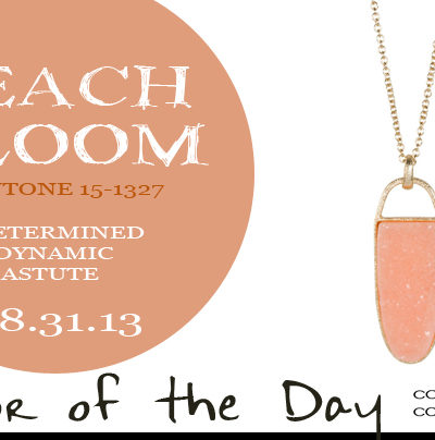 Color of the Day {Peach Bloom}