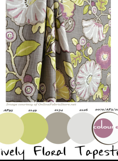 Paint Palettes {Lively Floral Tapestry}