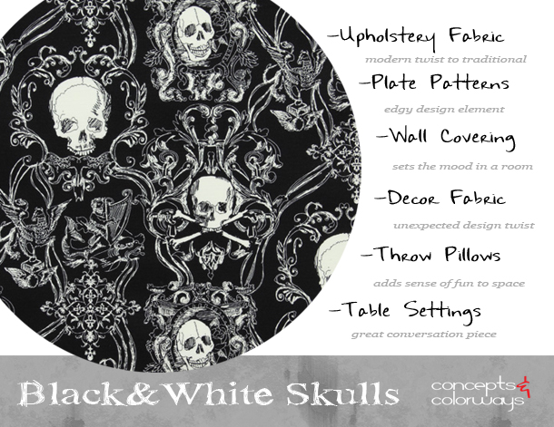 black-white-skull-print-design-element