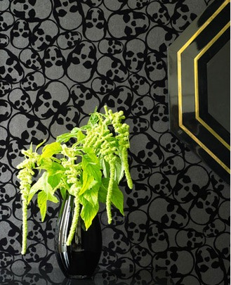 Black Skull Wallpaper from Graham and Brown