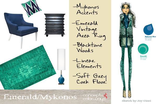 Fashion Forward {Emerald/Mykonos}
