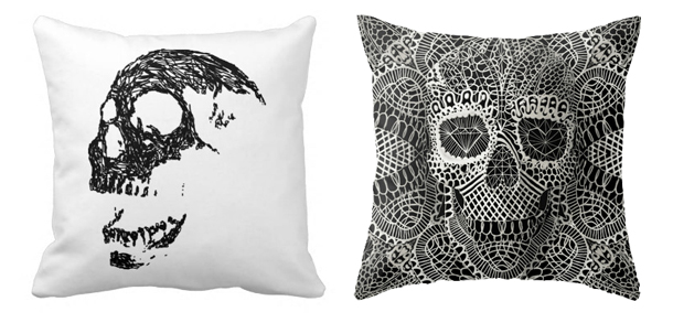 skull-pillows