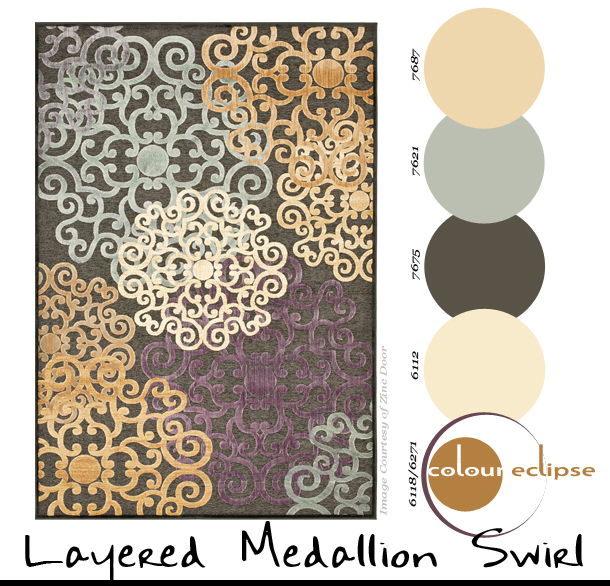 Paint Palettes {Layered Medallion Swirl}