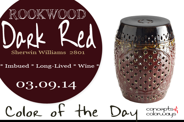 Color of the Day {Rookwood Dark Red}