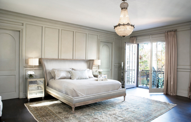individual white bedroom