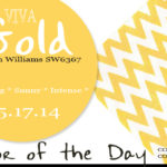 05.17.14 Color of the Day, Viva Gold, SW6367, bright gold, pine cone hill chevron daffodil napkin