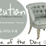 05.25.14 Color of the Day, Aleutian, Sherwin Williams SW6241, gray-blue, Amelia slipper chair