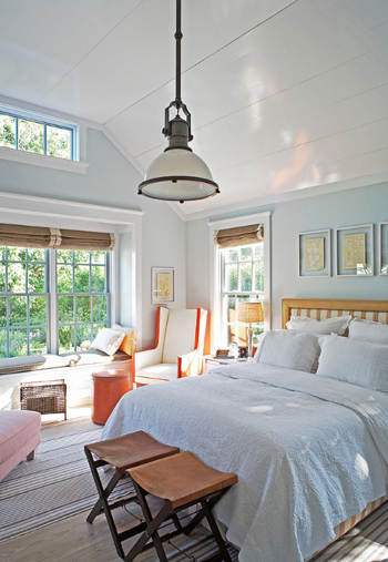 Color of the day evening shadow concepts and colorways - Orange and light blue bedroom ...
