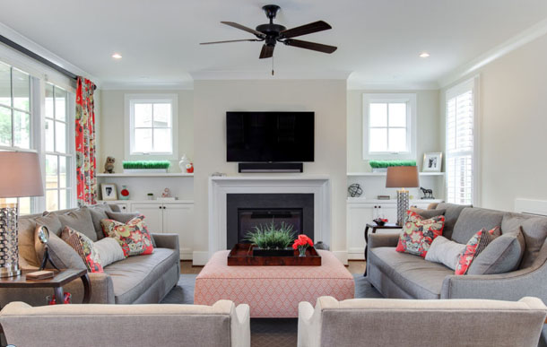 Living Room With Coral Ottoman Part 25