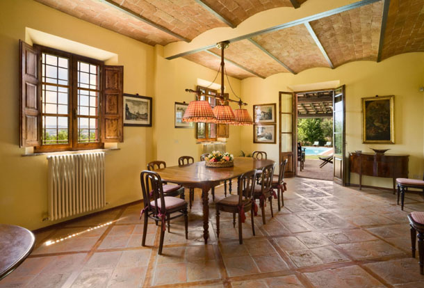 tuscan farm house interior