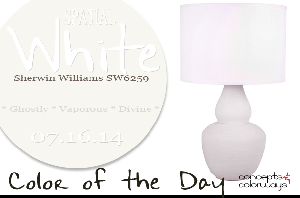 07.16.14 Color of the Day, Spatial White, Sherwin Williams SW6259