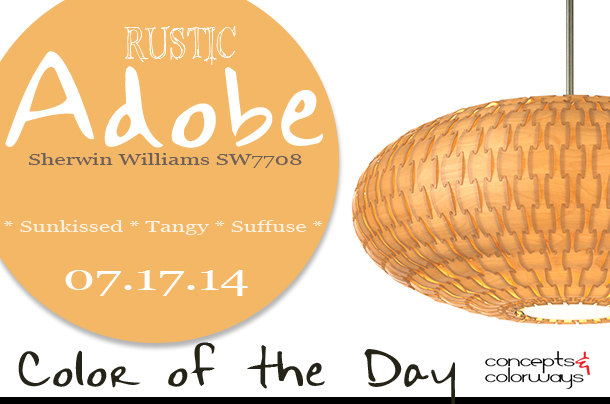 07.17.14 Color of the Day, Rustic Adobe, Sherwin Williams SW7708, light orange, Dform Basket Saucer