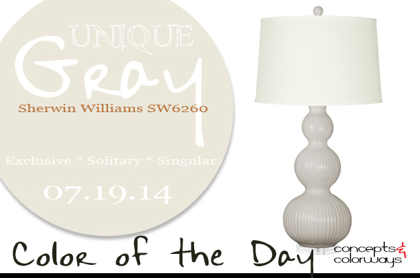 07.19.14 Color of the Day, Unique Gray, Sherwin Williams SW6260, light gray, Bungalow 5 Flora Light Gray Table Lamp