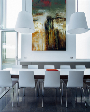 modern off-white dining room
