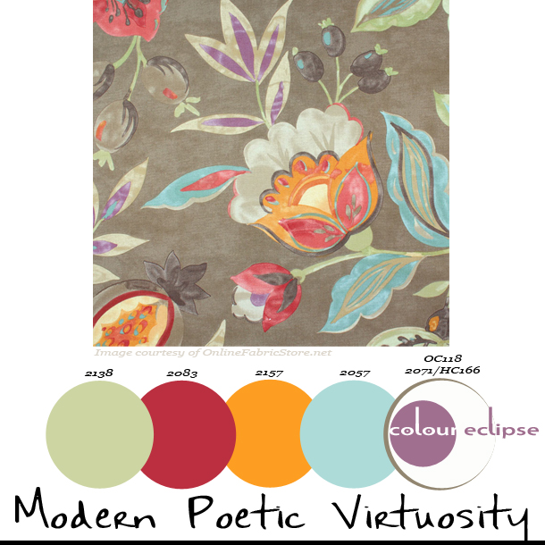 paint palettes, color palettes, color schemes, benjamin moore color combinations, waverly modern poetic flaxseed fabric