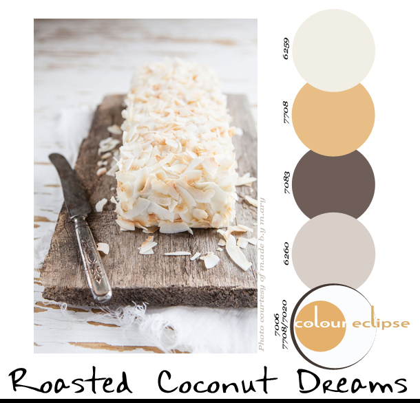 paint palettes, color palettes, color schemes, sherwin williams color combinations, Juicy Limekaka with Roasted Coconut Flakes & Kokosfrosting recipe