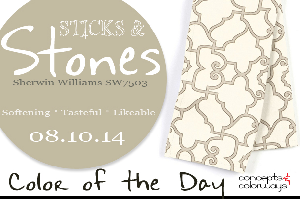 08.10.14 Color of the Day, Sticks & Stones, Sherwin Williams SW7503, warm gray, warm gray scroll custom napkin set