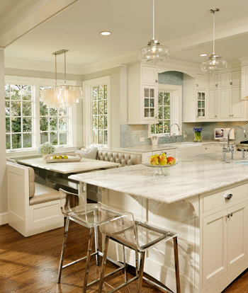 warm white kitchen