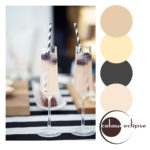 black and white striped party theme