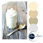 ricotta filled mason jar with color palette