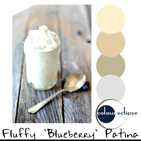 mason jar of ricotta with color palette