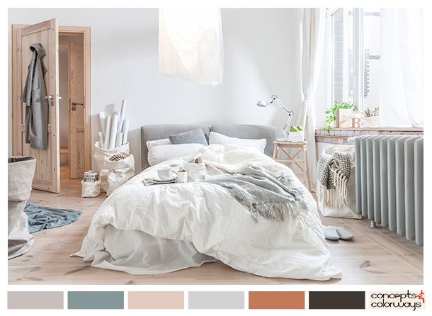 bedroom with soft color palette