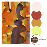 manzanita tree bark with color palette