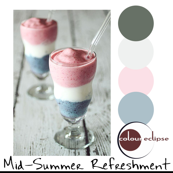 red white and blue smoothie with color palette