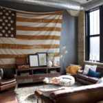 americana themed living room