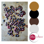 roasted blueberries with color palette