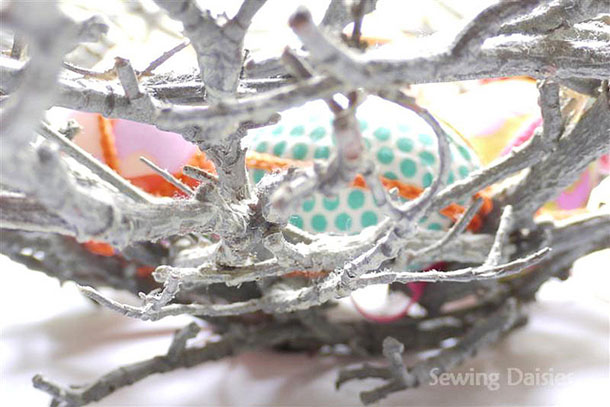 decorative bowl made of weathered gray branches