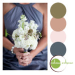 pantone stormy weather dress white bouquet