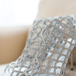jeweled silver wedding shoes