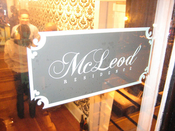 mcleod residence sign