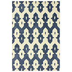cobalt blue and white geometric rug
