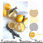 rosemary bourbon lemonade with color palette